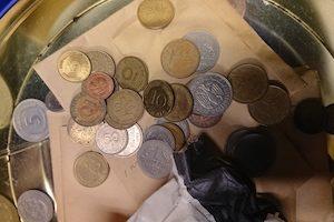 外貨コイン大量